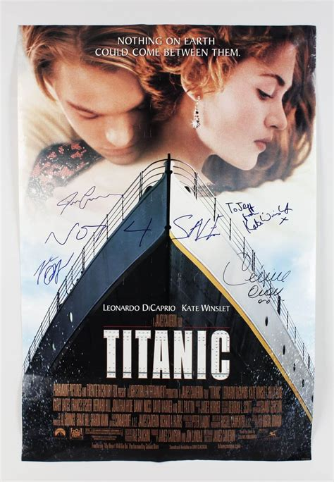 Titanic Boat Poster by Titanic Film Poster Signed By Celine Dion James Cameron