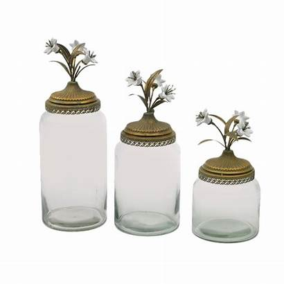 Canister Glass Sets Kitchen Canisters Mason Tops