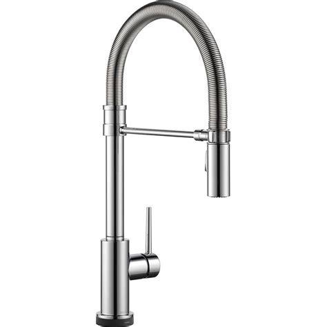 Touch2o Kitchen Faucet by Delta Trinsic Pro Single Handle Pull Sprayer Kitchen