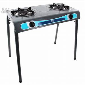 Double Head Propane Gas Burner Portable Stand Camping ...