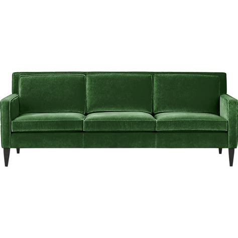 modern green velvet sofa rochelle sofa in sofas crate and barrel house stuff
