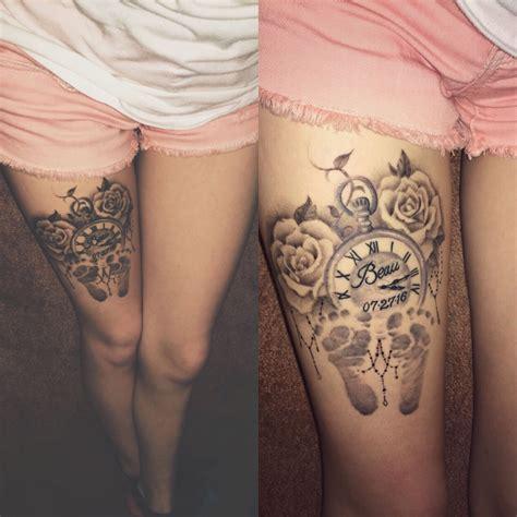 roses pocket   baby footprints tattoo tattoos