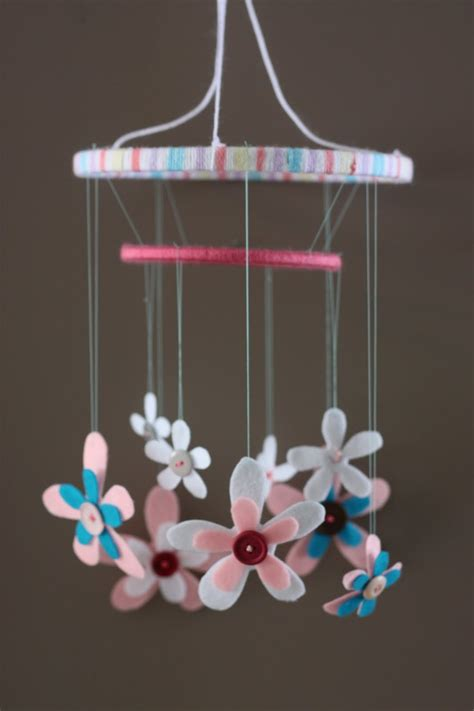picture of diy floral mobile create loves diy baby mobile ideas for our baby room pinterest