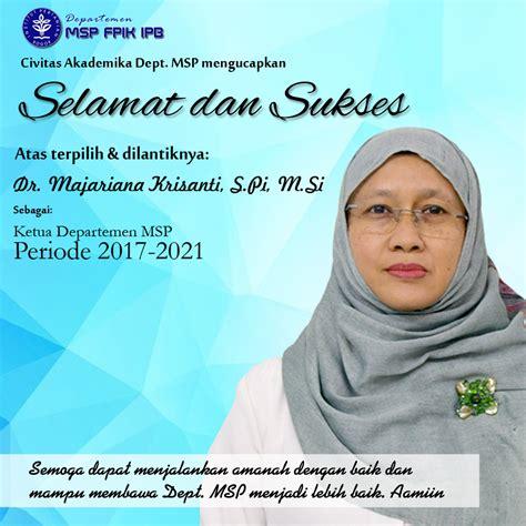 ketua departemen msp periode   department  aquatic resources management