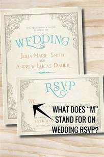 bridal shower registries what does quot m quot stand for on wedding rsvp