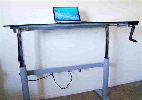 how to make desk legs homemade standing desk showcases creative idea that helps