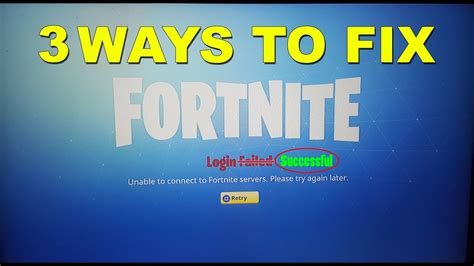 solved   ways  fix login failed error fortnite