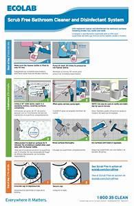 Scrub Free Bathroom Cleaner  U0026 Disinfectant Wall Chart