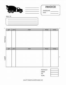 Concrete invoice template for Concrete invoice template