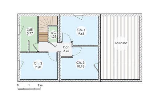 plan maison bois plain pied 4 chambres maison en bois modulaire dé du plan de maison en