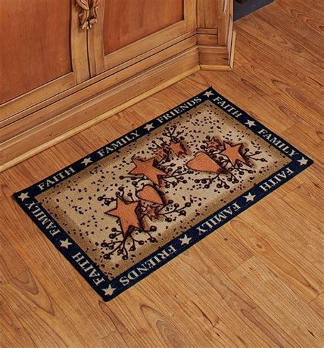 Kitchen Rugs by Charming Country Kitchen Faith Family Friends Hearts