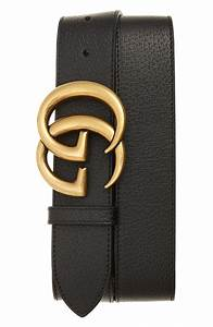 Gucci Gg Logo Buckle Leather Belt Nordstrom