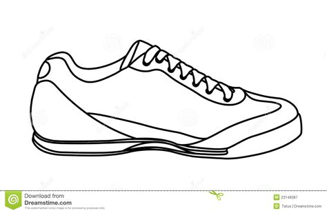 shoo clipart black and white sketch of casual shoe sneakers stock vector