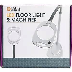mighty bright led floor light magnifier grey black