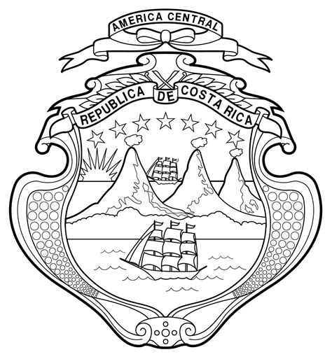 Costa Rica Map Coloring Pages Coloring Pages