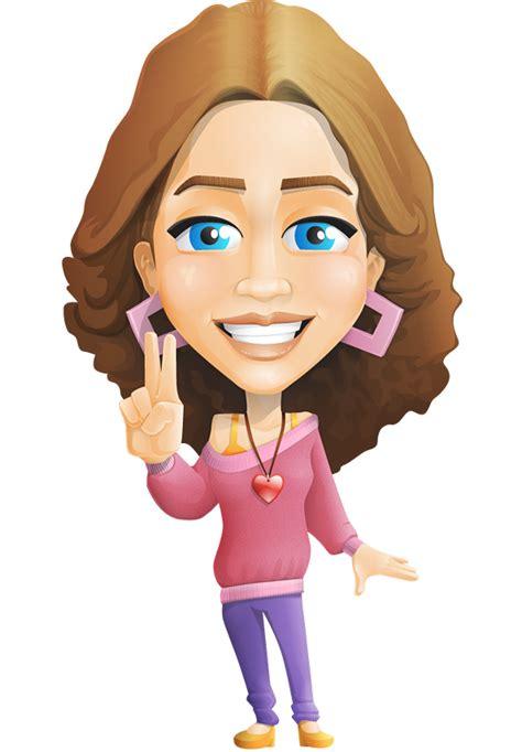 girl vector character vector characters