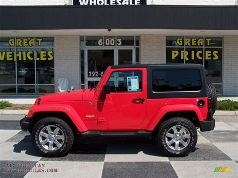 jeep sahara red 2013 jeep wrangler sahara 4x4 in rock lobster red 645407