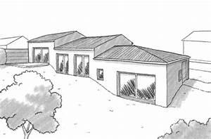 Maison Avec Sous Sol Sur Terrain En Pente : plan maison de plain pied avec sous sol ooreka ~ Melissatoandfro.com Idées de Décoration