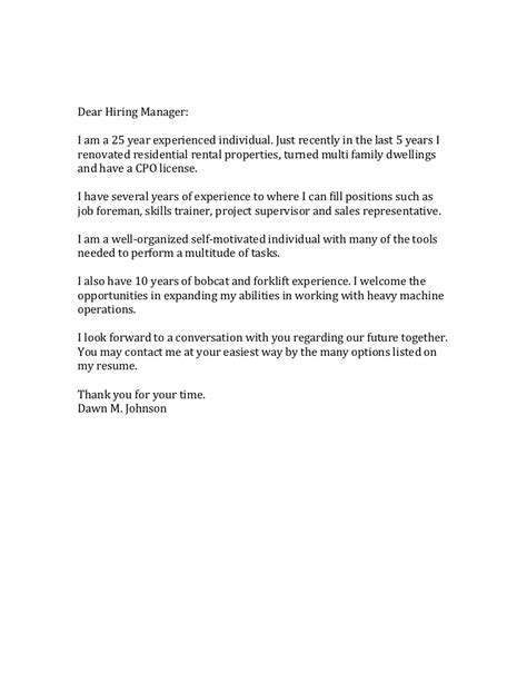 dear hiring manager cover letter sle  images stylish