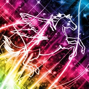 Pegasus Drawing Rainbow