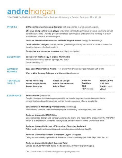 Resume Templates Contact Information by Giving Your Resume Visual Appeal The Career Development