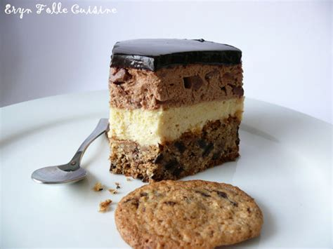 eryn folle cuisine le cookie mousse vanille chocolat gâteau eryn et sa folle cuisine