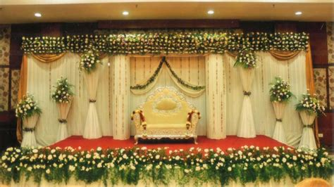 simple wedding stage decoration  home youtube