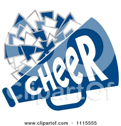 Blue Cheer Megaphone Clipart Royalty Free Rf Illustration Clipart Green Text With A Pom Pom And