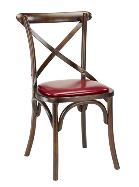 g a seating rustic cross back wood chair 4688vs