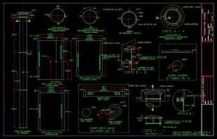 boiler chimney constructive details dwg detail for autocad designs cad