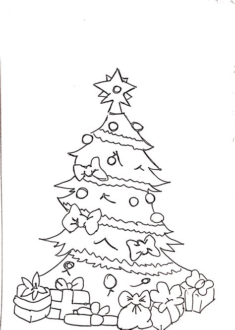 disegni albero  natale da colorare carminearts