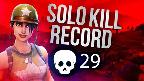 solo kill record fortnite world record youtube