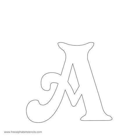 printable stencils  alphabet letters numbers