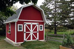 12x16 tall barn style gambrel roof shed plans for Barn looking sheds