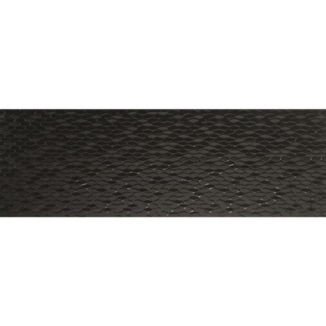 black ceramic tile home depot emser artwork hexagon black 12 in x 35 in ceramic wall tile 11 63 sq ft case 1242183