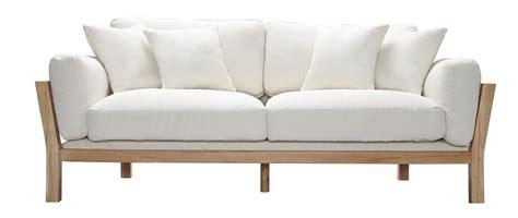 canape japonais canapé design 3 places déhoussable blanc crême pieds bois