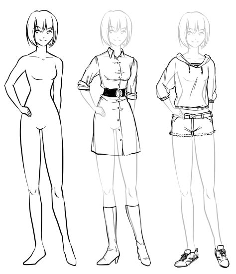 How To Drawing Dress Anime 5. How To Draw Clothing - Drawings Inspiration