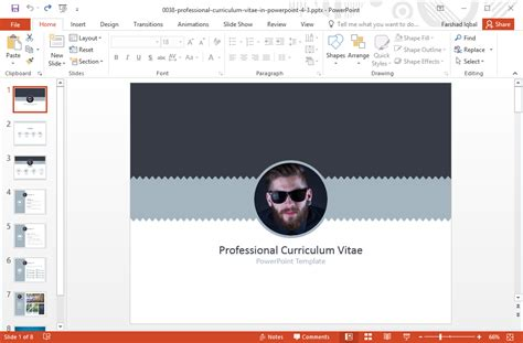resume sample cv   resume powerpoint