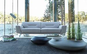 perle sofa for roche bobois collection 2014 by sacha lakic With canapé cuir roche bobois
