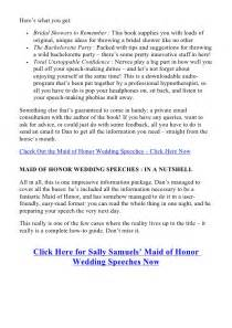 Best Maid of Honor Speeches Examples