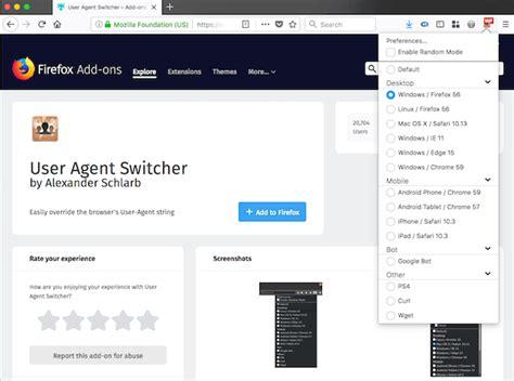 firefox ons agent addons mozilla developers designers switcher addon