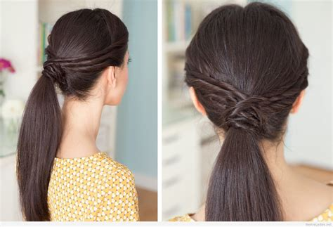 classy twisted ponytails