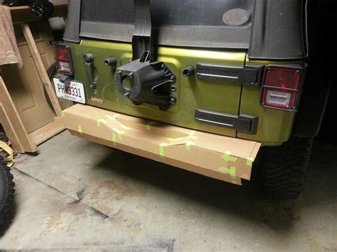 homemade jeep bumper plans rear bumper diy style jk forum com the top destination