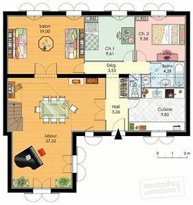 maison familiale 1 detail du plan de maison familiale 1 With maison rez de chaussee 5 maison familiale 2 detail du plan de maison familiale 2