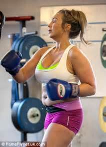 lauren young gym lauren goodger wears sports bra and tiny shorts to do some
