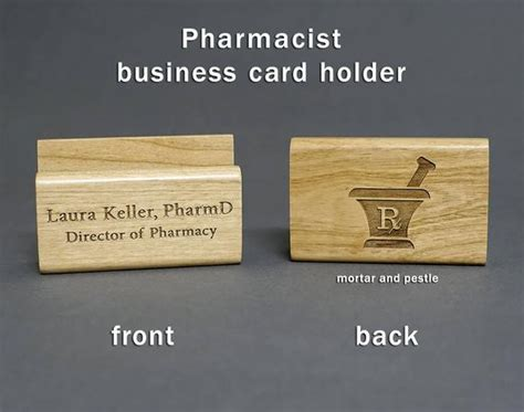 Pharmacist Personalized Wood Business Card Holder Pharmd Business Cards South Australia Visiting Card Background Fruit How To Make Box Change In Word Architecture Address Format On Abbreviations For Phone Numbers Create A