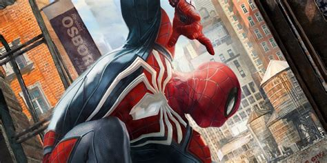 Insomniac Games' Spiderman Ps4 Art Revealed Screenrant