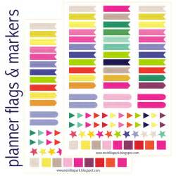 meinlilapark free printable calendar planner flags and