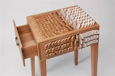 by design furniture juno jeon s bedside table has scales that act like a