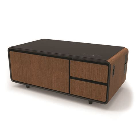 Despite a smaller refrigerator, the sobro smart coffee table has enough features to make life primst smart refrigerator coffee table, wood. sobro_render_front_WD.jpg | Home coffee tables, Coffee table canada, Coffee table